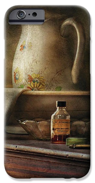 Furniture - Table - The Water Pitcher iPhone Case by Mike Savad