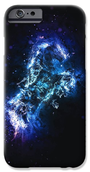 Fury Digital Art iPhone Cases - Fury iPhone Case by Methune Hively