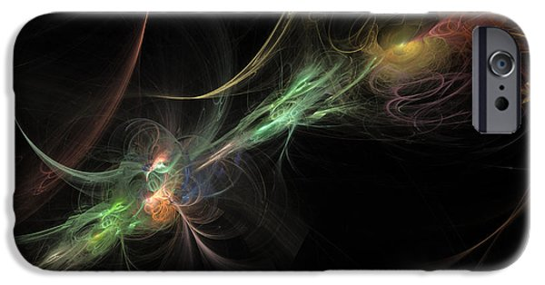 Flame Fractal iPhone Cases - Fusion Two iPhone Case by Andy Astbury