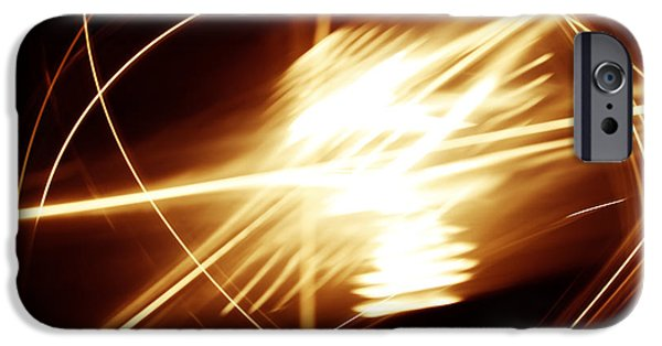 Blast iPhone Cases - Futuristic background iPhone Case by Les Cunliffe