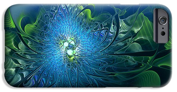 Gaia Digital iPhone Cases - Gaias Emergence iPhone Case by Casey Kotas