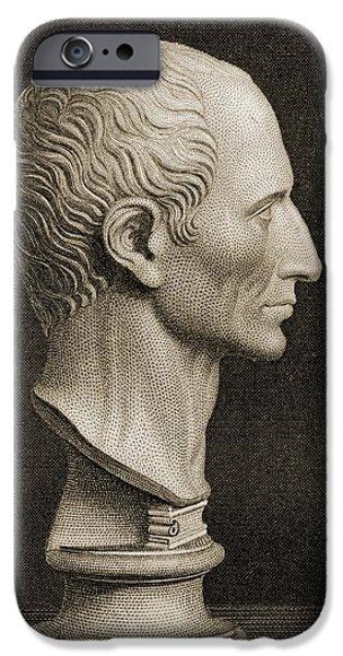 Julius Caesar iPhone Cases - Gaius Julius Caesar 100-44 B.c. The iPhone Case by Ken Welsh