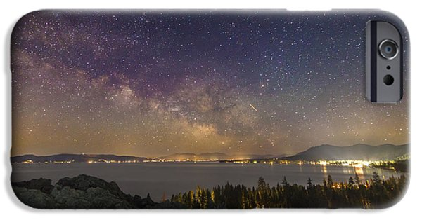 Lake Tahoe iPhone Cases - Galactic Breath iPhone Case by Jeremy Jensen