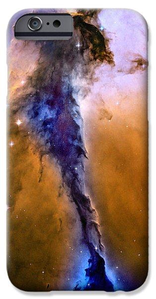 Evolution iPhone Cases - Galactic Mermaid iPhone Case by Jon Neidert