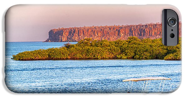 Red Mangroves iPhone Cases - Galapagos Islands at Dusk iPhone Case by Jess Kraft