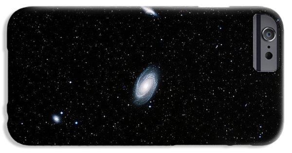 Stellar iPhone Cases - Galaxies M81 And M82 iPhone Case by Davide De Martin