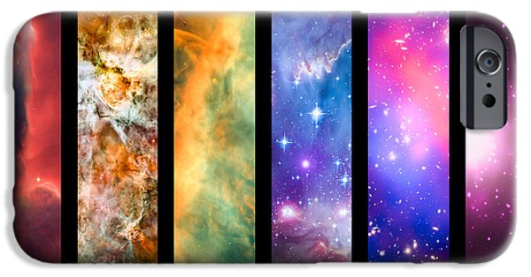 Astral iPhone Cases - Space rainbow iPhone Case by Delphimages Photo Creations