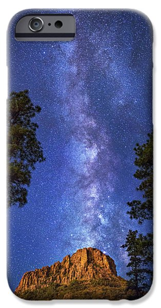 Prescott iPhone Cases - Galaxy Rising iPhone Case by Theresa Rose Ditson