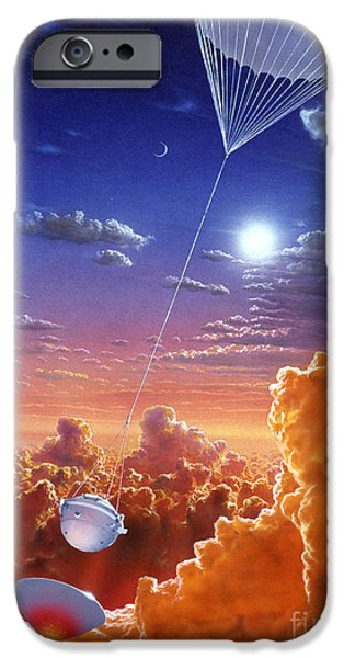 Space-craft iPhone Cases - Galileo Space Probe iPhone Case by Lionel Bret and Photo Researchers