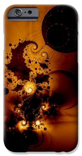 Fractal iPhone Cases - Galileos Muse iPhone Case by Casey Kotas