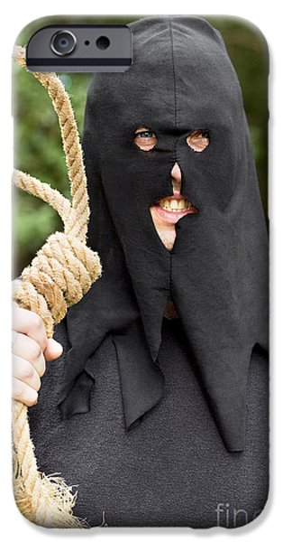 Hangman iPhone Cases - Gallows Hangman With Noose iPhone Case by Ryan Jorgensen