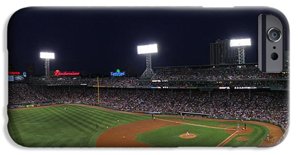 Fenway Park iPhone Cases - Game Night Boston Fenway Park iPhone Case by Juergen Roth