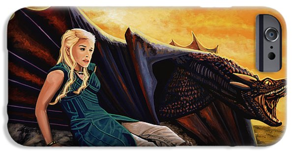 Dragon iPhone Cases - Game Of Thrones iPhone Case by Paul Meijering