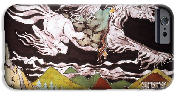 The Horse Tapestries - Textiles iPhone Cases - Gandalf and Shadowfax iPhone Case by Carol Law Conklin