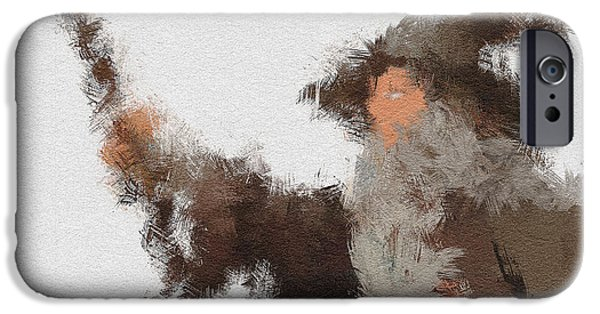Character Portraits Digital Art iPhone Cases - Gandalf the Grey iPhone Case by Miranda Sether