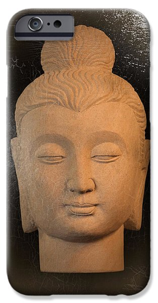 Buddhist Sculptures iPhone Cases - Gandhara oil paint effect iPhone Case by Terrell Kaucher