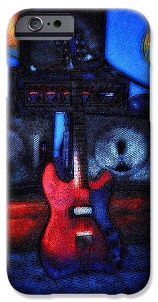 Jet Star iPhone Cases - Garage Rock iPhone Case by Bill Cannon