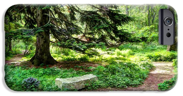 Pathway iPhone Cases - Garden Alone iPhone Case by Betsy Zimmerli