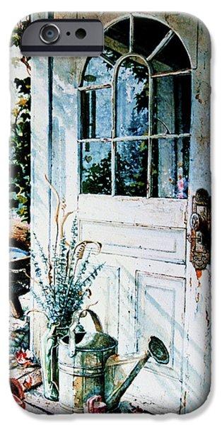 Garden Chores iPhone Case by Hanne Lore Koehler