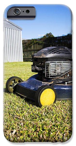 Work Tool iPhone Cases - Garden Mower iPhone Case by Ryan Jorgensen