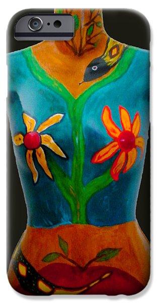 Food And Beverage Sculptures iPhone Cases - Garden of Eden iPhone Case by Nina Luna