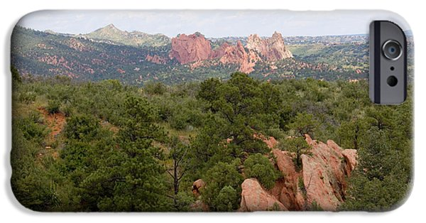 Pines iPhone Cases - Garden of the Gods from the Mesa Trail iPhone Case by Steve Krull