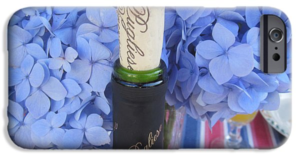 Wine Bottles iPhone Cases - Garden Party iPhone Case by Deborah A Andreas