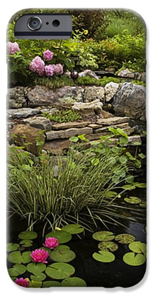 Garden Pond - D001133 iPhone Case by Daniel Dempster