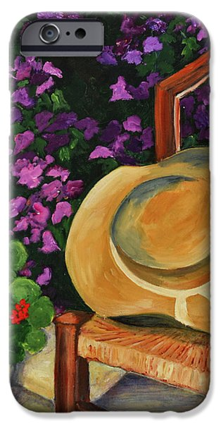 Park Scene iPhone Cases - Garden scene iPhone Case by Elise Palmigiani