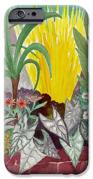 Garden scene Sep.2010 iPhone Case by Fred Jinkins