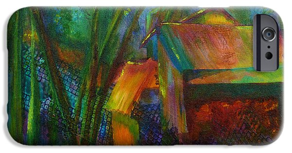 Shed Mixed Media iPhone Cases - Garden Shed iPhone Case by Claire Bull