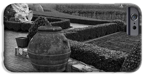 Garden Statuary iPhone Cases - Garden Statuary -del Dotto Estate Winery iPhone Case by Mountain Dreams