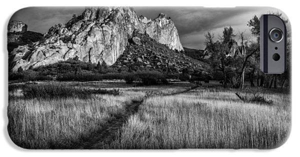 Colorado Framed Prints iPhone Cases - Garden Walk iPhone Case by Darren  White