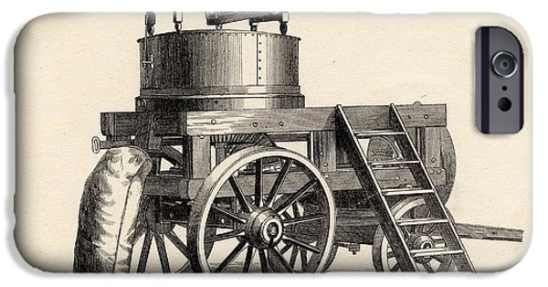 Machinery iPhone Cases - Garrett And Son S Improved Stone Mill iPhone Case by Ken Welsh