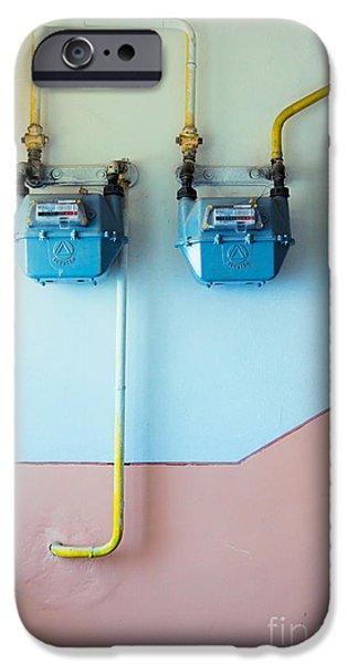 Gas meters iPhone Case by Gabriela Insuratelu