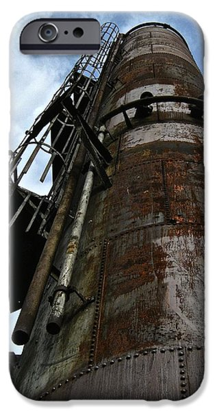 Mounds iPhone Cases - Gas Works 3 iPhone Case by Katy Granger