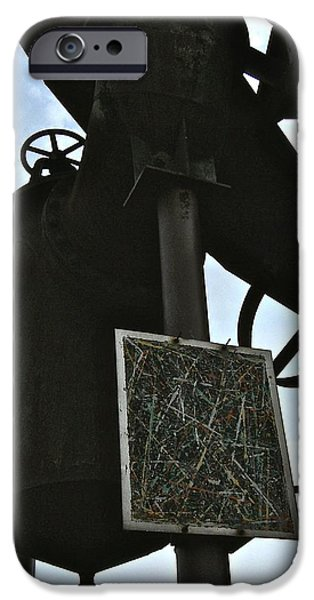 Mounds iPhone Cases - Gas Works 4 iPhone Case by Katy Granger