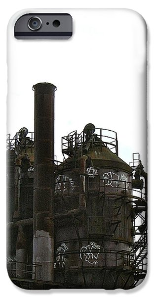 Mounds iPhone Cases - Gas Works 9 iPhone Case by Katy Granger