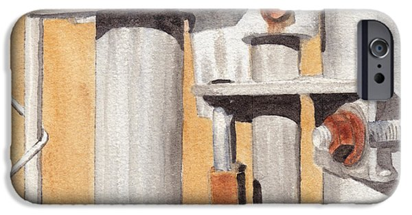 Linked Paintings iPhone Cases - Gate Lock iPhone Case by Ken Powers
