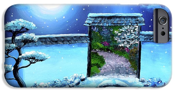 Surreal Landscape iPhone Cases - Gate to Spring iPhone Case by Laura Iverson