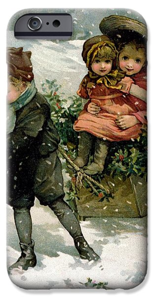 Pulling Paintings iPhone Cases - Gathering Holly iPhone Case by Lizzie Mack