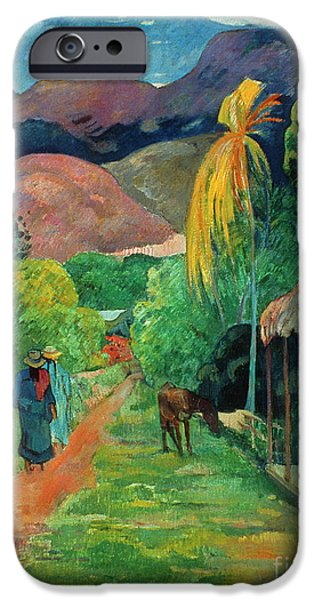 19th Century Photographs iPhone Cases - GAUGUIN TAHITI 19th CENTURY iPhone Case by Granger