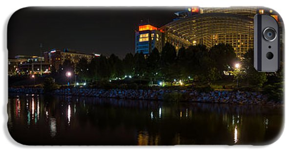 D.c. iPhone Cases - Gaylord National Resort and Convention Center at night iPhone Case by Chris Bordeleau