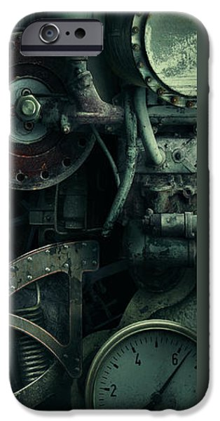 Gear Mixed Media iPhone Cases - Gear Head Steampunk  iPhone Case by Movie Poster Prints