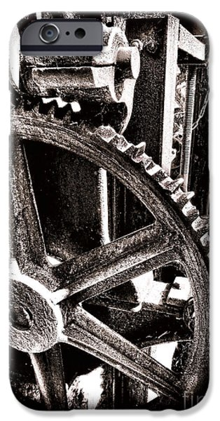 Cog Wheels iPhone Cases - Gearology  iPhone Case by Olivier Le Queinec