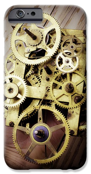 Precise iPhone Cases - Gears Held By Hand iPhone Case by Garry Gay