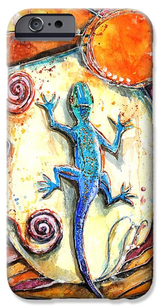 Sweat iPhone Cases - Gecko iPhone Case by Patricia Allingham Carlson