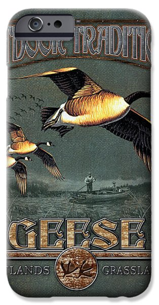 Geese iPhone Cases - Geese Traditions iPhone Case by JQ Licensing