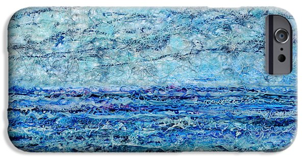 Ocean Reliefs iPhone Cases - Gelid Shoreline iPhone Case by Regina Valluzzi