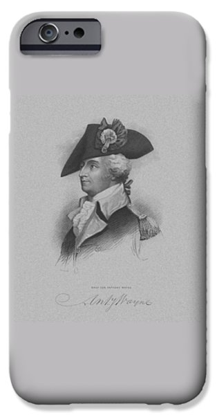 American Revolution iPhone Cases - General Anthony Wayne iPhone Case by War Is Hell Store
